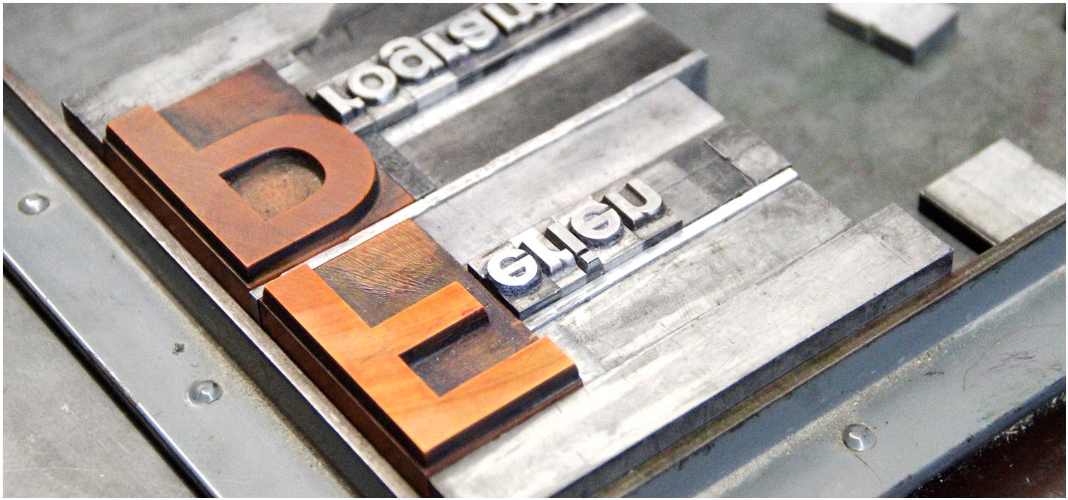 Bücher drucken im Buchdruck (Letterpress)