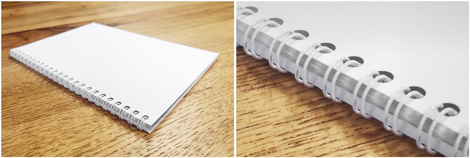 Broschüren und Bücher – Ausführung mit Drahtkammbindung